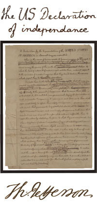 The United States  Declaration  of Independence